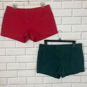 J.Crew 2 pairs Broken-in chinos sz 4 red free